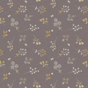 Lewis & Irene The Hedgerow - 5558  - Hedgerow Floral  on Warm Grey - A252.3 - Cotton Fabric